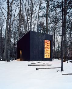 #smallspace #cabin #woods #exterior #architecture #snow