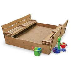 Badger Basket Covered Convertible Cedar Sandbox with 2 Bench Seats Image 3 of 5