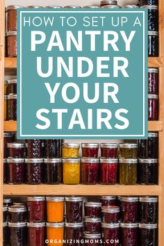 How to set up a pantry under stairs food storage system. A pantry organization idea that helps you make the most of unused space. #Organizing #MealPrep #organizingmoms Pantry Inventory, Pantry Organization, Diy Storage, Food Storage, Plastic Shelves, Organized Mom, Under Stairs, Organizing Your Home, Declutter