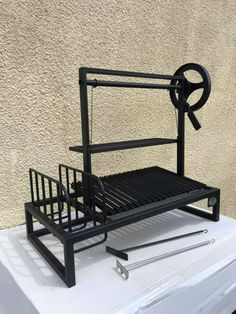 """""""BM G-1"""" Argentine Grill - BBQ mates Backyard Barbeque, Barbecue Grill, Grilling, Outdoor Bbq Kitchen, Outdoor Kitchens, Outdoor Cooking, Diy Grill, Homemade Grill, Grill Pan"""