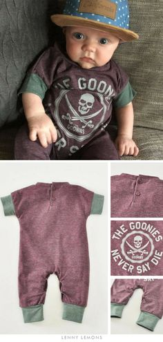 5541d69bb17f Funniest gift for babies! Funny prints for babies. Goonies never say die.  Still