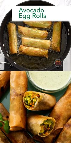 This avocado egg roll recipe is so easy and delicious! OMG, my kids love these and just like what you get at restaurants but even better. Love avocado egg rolls. Egg Roll Recipes, Avocado Recipes, Easy Egg Roll Recipe, Tasty Videos, Food Videos, Veggie Dishes, Vegetable Recipes, Vegetable Egg Rolls, Tasty Vegetarian Recipes
