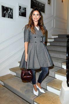 Miroslava Duma à la semaine de la Haute Couture.