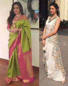 Vidya Balan and Divya Khosla Kumar Dress Indian Style, Indian Dresses, Indian Wear, Indian Outfits, Fashion Hub, Ethnic Fashion, Fashion Boutique, Indian Fashion, Salwar Designs