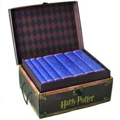 """This set of all 7 books in the series has custom book jackets in the colors of Ravenclaw house. We affectionately refer to this set as the """"Ravenclaw Edition."""" The books are all brand new hardcovers. Ravenclaw values intelligence, creativity, learning, and wit. // I HAVE A MIGHTY NEED"""