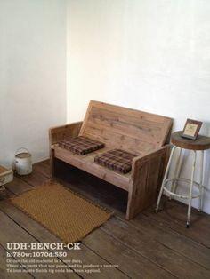ベンチ アンティーク シャビー チェアー 椅子 古材_画像1