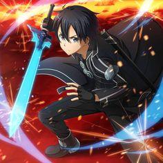 Manga Anime, Sao Anime, Kirito Kirigaya, Kirito Asuna, Kirito Sword, Sword Art Online Kirito, Arte Online, Online Art, I Love Anime