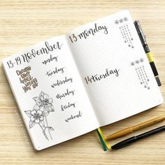 "99 Likes, 1 Comments - Rose K (formerly @bujotrain) (@rosekjournals) on Instagram: ""{13.11} My bujo has been prepped for the week, I'm going to start this week with a Did you have a…"""