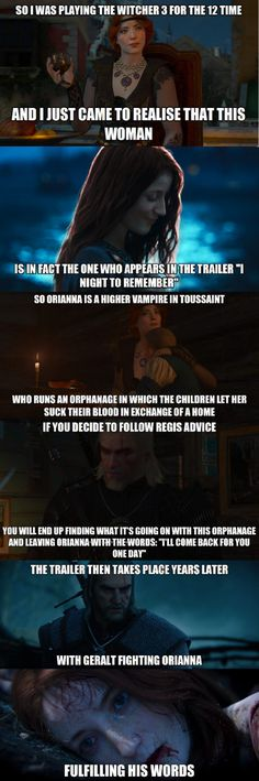 The Witcher 3 is the best game ever created, ever. This blew my head straight off.the planning involved with that game was insane! The Witcher Game, Witcher Art, Witcher 3 Wild Hunt, Witcher Wallpaper, Ciri, Video Game Art, Mass Effect, Sports Humor, Skyrim