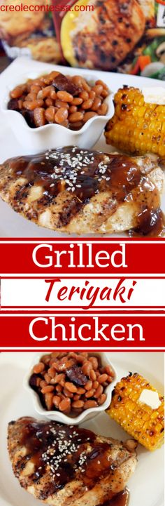 Grilled Teriyaki Chicken with Campbell's Grill Sauces-Creole Contessa #CampbellSauces