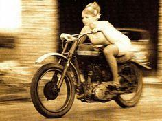 MOTORCYCLE 74: 1950's Motorcycle pin up girl