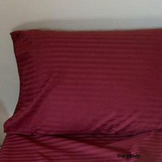SOHO Duvet Cover 400TC Sateen Stripe Burgundy (King) by Vanessa Collection. $59.99. Imported.. 400 thread count. Machine wash warm separately or with like colors. Do not bleach.. King: One duvet cover and Two King size pillow shams.. 100%  Egyptian Cotton. Wrap Yourself In the softness of the luxurious 400TC 100% Egyptian Cotton Duvet cover like those found in world-class hotels. Grown mainly in the Nile Valley, Egyptian cotton is world-renowned for it's supreme softne...