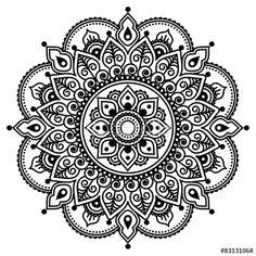 indian brodrie round pattern