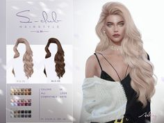 Sims 4 Curly Hair, Long Curly Hair, Curly Hair Styles, Sims 4 Mods Clothes, Sims 4 Clothing, Maxis, The Sims 4 Skin, The Sims 4 Cabelos, Pelo Sims