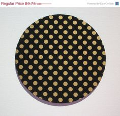 SALE  Mouse Pad mousepad / Mat  round  Shiny gold polka by Laa766  chic / cute / preppy / laptop accessory / desk, computer accessory / office decor / gift / patterned design / school
