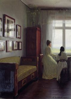 Soyouthinkyoucansee; today's BEST!  Georg Nicolaj Achen (1860 – 1912,Danish)  A room with a view; for you to reblog!!!