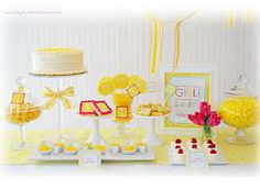 yellow candy table - Google Search