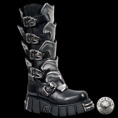 New Rock Grey Gladiator Boots (738-S1)