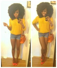 Naturally Curly Hair Outfit