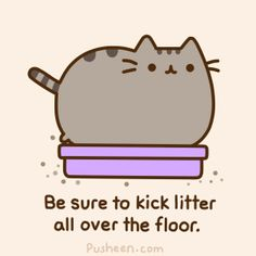 My Thoughts Confession: my husband and I are Pusheen fans. We have been known to giggle at many a Pusheen gif, compare Pusheen to our own cat, and even buy a Pusheen t-shirt or two. Gato Pusheen, Pusheen Love, Pusheen Stuff, Crazy Cat Lady, Crazy Cats, Pusheen Stickers, Cat Comics, Kawaii Cat, Fat Cats