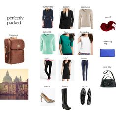 Italy Packing List (minus the heels- have you seen those cobblestone streets?!?)