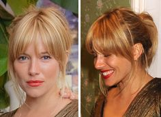 New Hair Cuts Layers Long Bangs Sienna Miller 70 Ideas Fringe Hairstyles, Hairstyles With Bangs, Pretty Hairstyles, Wedding Hairstyles, Medium Hair Styles, Short Hair Styles, Great Hair, Hair Today, Hair Dos