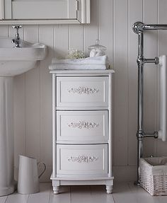 Bathroom Cabinets 30cm Wide maine white bathroom cabinet with drawer and cupboard | bathroom
