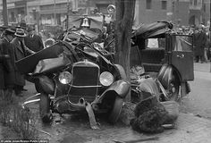 Vintage car wrecks from the great motoring boom