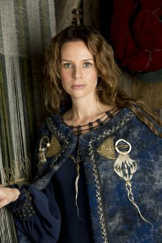 Siggy Haraldson (Jessalyn Gilsig) 'Vikings' 2013. Costume designed by Joan Bergin.