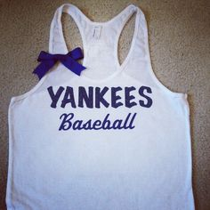 CUSTOMIZE YOUR Favorite Team  Yankees Baseball by RufflesWithLove, $24.00  #yankees #newyorkyankees #baseballseason #mlb #baseball