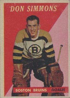 Don Simmons - Boston Bruins. 1958-59 Topps hockey card.