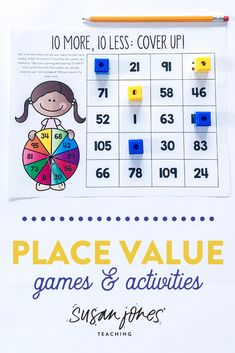 I love using manipulatives to teach place value to my first grade students! These hands on activities, games and printables are perfect for small group and whole group instruction! Head over to the blog to check it out!   #placevalue #firstgradeactivities