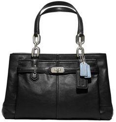 Coach Chelsea Leather Jayden Satchel Bag Purse Tote 17811 Black | WomenProducts