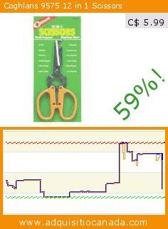 Coghlans 9575 12 in 1 Scissors (Lawn & Patio). Drop 59%! Current price C$ 5.99, the previous price was C$ 14.56. https://www.adquisitiocanada.com/coghlans/coghlans-9575-12-1