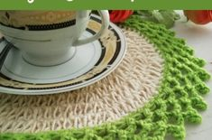 Crochet Oval Table Mat is my second pattern with Jute Hemp. I used leftover yarns to make lace edging with picots. Hope you enjoy this free crochet pattern. Crochet Table Mat, Crochet Placemats, Easy Crochet, Free Crochet, Baby Boy Sweater, Oval Table, Marigold, Hemp, Jute