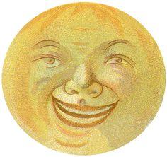 Vintage Moon Man Image
