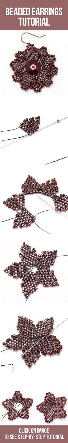 Beaded earring tutorial / Плетем серьги из бисера, мастер-класс и схема