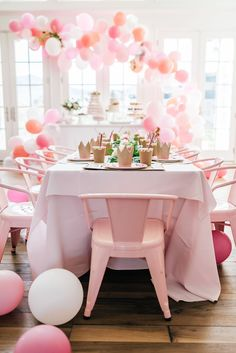 Balloon inspiration for bridal shower or bachelorette party decor - wedding balloon ideas - pink bridal shower ideas {Pink Peonies}