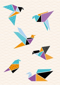 Origami cranes wall art – Make and Tell More