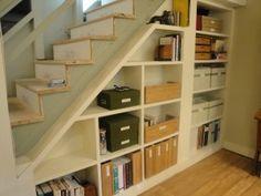 under stair storage shelves   Stairing Your Clutter Down – Under Stair Storage