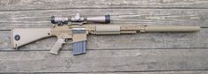 M110 Sniper System Semi-automatic sniper system chambered in 7.62x51 (.308 win). Shown with sound suppressor.