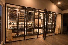 Glass Wine Cellar, Home Wine Cellars, Wine Cellar Design, Under Basement Stairs, Wine Wall, Store Interiors, Wine Storage, Decoration, Modern Contemporary