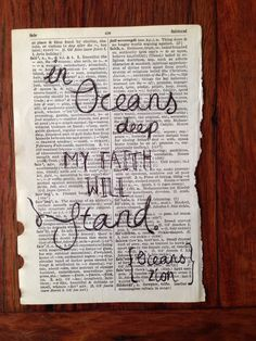 One of my favorite songs. Combines the two things I have loved since childhood...God and the ocean.