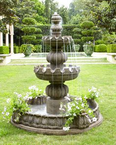 """Three-Tier """"Castle"""" Fountain at Neiman Marcus. Might be simple enough to place on stage."""