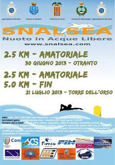 SNALSEA 2013 | Otranto 30 giugno 2013, Nuoto in Acque Libere