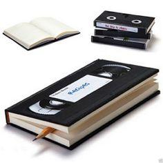 New Novelty Retro Video Tape Ruled Blank Notebook Diary