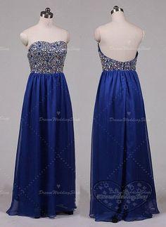 Strapless Prom DressesBlue Party by DreamWeddingShop on Etsy, $189.99