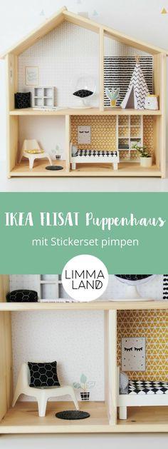 Das IKEA FLISAT Puppenhaus ist noch recht neu im Programm, aber schon unglaublich beliebt. Kein Wunder, denn es ist schlicht und nicht so groß wie andere Puppenhäuser. Jedoch wünschen sich Kinder für ihr Puppenhaus eine richtige Einrichtung und schöne Deko wie bei den Großen. Dazu gehören Tapeten, Bilder und Teppiche. Deswegen gibt es im Limmaland nun auch all das auf einem Stickerbogen. Das gemeinsame Einrichten mit deinem Kind wird riesigen Spaß machen! Stickerset von www.limmaland.com
