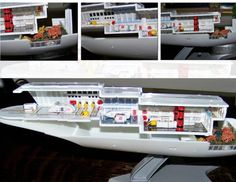 USS EXETER Refit Shuttle and Cargo Bay Diorama by Thomas Militello