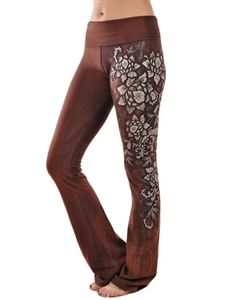 T-Party Flower Side Detail Yoga Pants